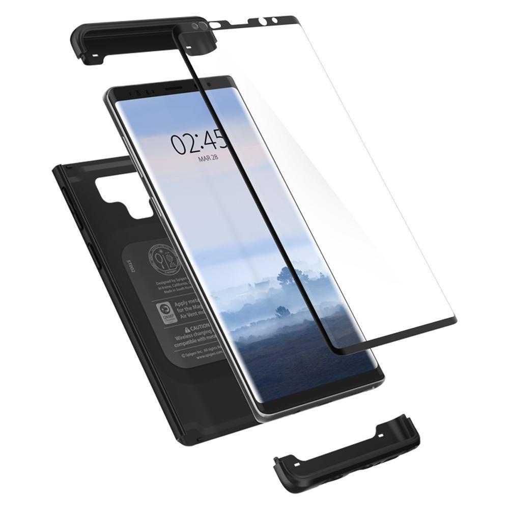 super popular f0257 361d0 Galaxy Note 9 Kılıf, Spigen Thin Fit 360 + Tempered Glass Cam ...