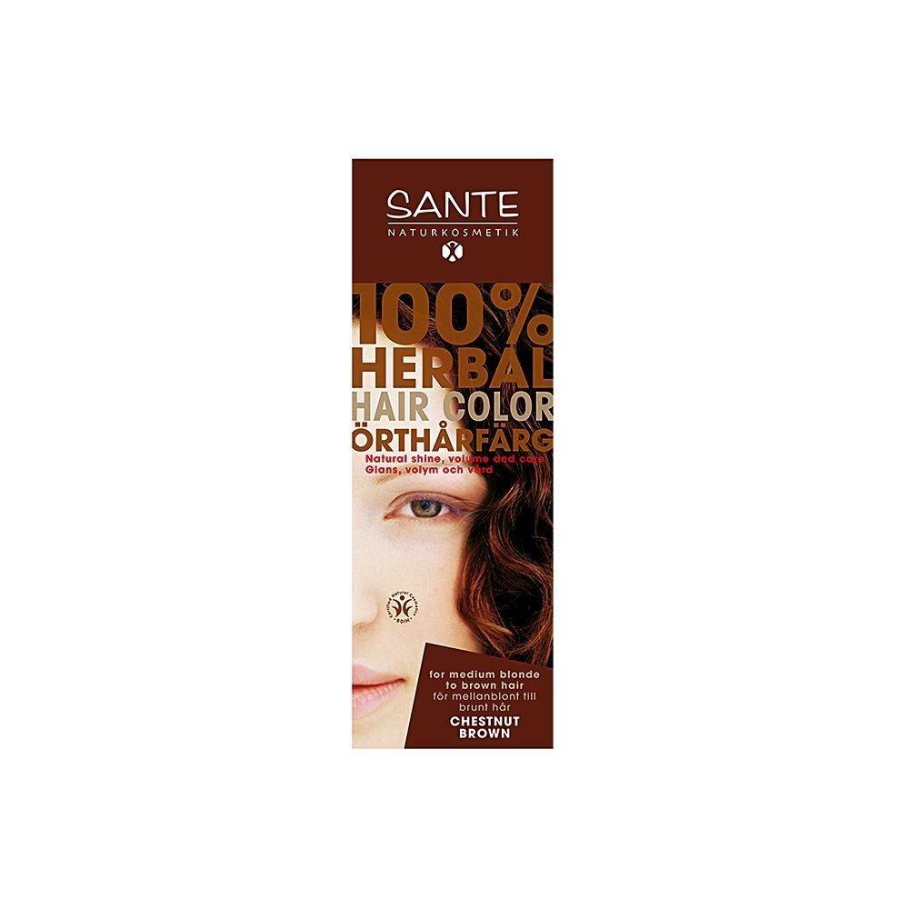 Organik Kestane Rengi Toz Saç Boyası 100 Gr Sante