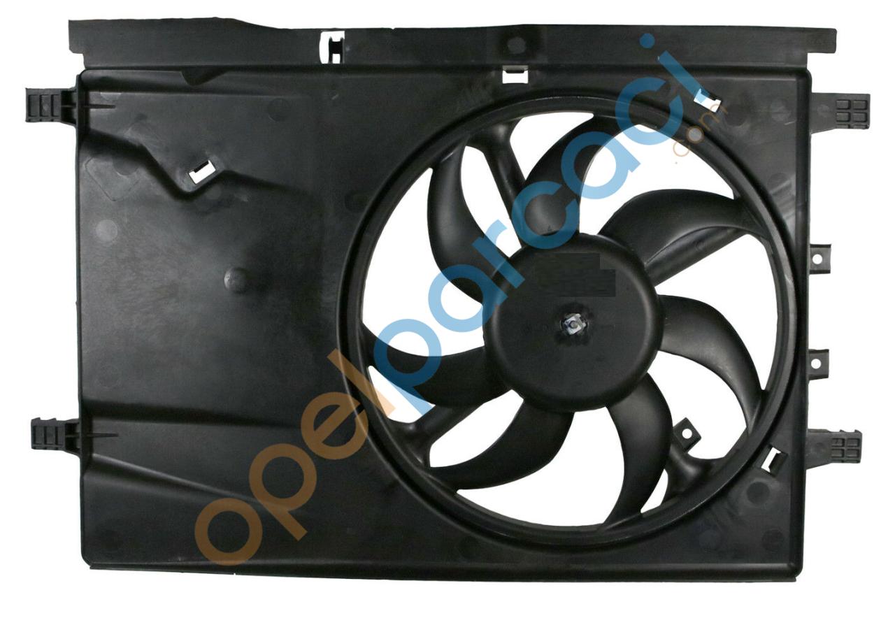 Opel Corsa D Fan Motoru + Davlumbaz 1.0 - 1.2 - 1.4 Motorlar İTHAL