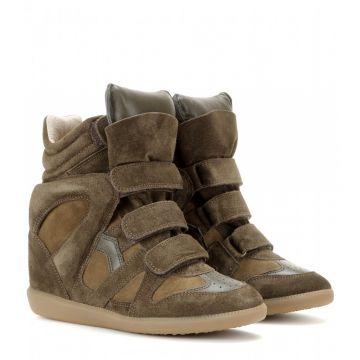 separation shoes 0e018 41c17 The Bekett Suede Concealed Wedge Sneakers - Ayakkabı, Kahverengi