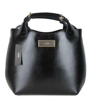 cc27cf0140 Shiny Saffiano Textured Leather Medium Tote Satchel - Çanta