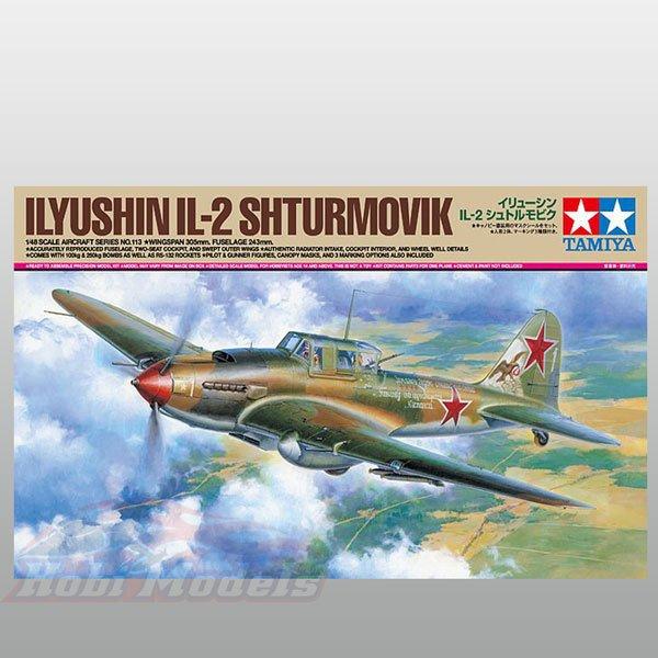 1/48 Ölçekler Ilyushin IL-2 Shturmovik TAMIYA
