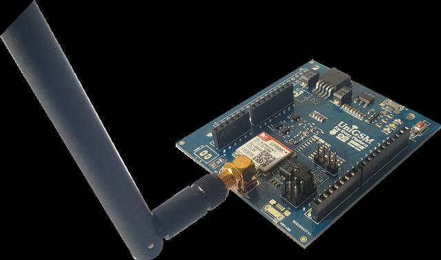 Arduino GSM Shield with Integrated Antenna Jetcom