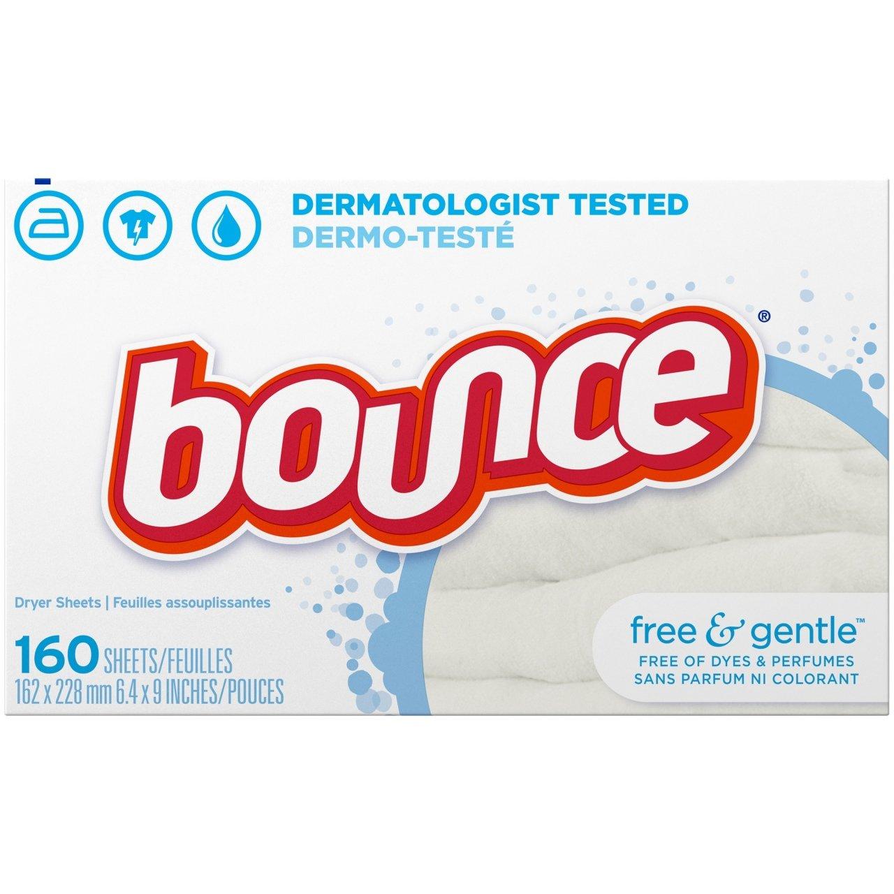 Bounce Free & Gentle Çamaşır Kurutma Makinesi Yumuşatıcı 160 Kullanımlık          BOUNCE   Çamaşır Yumuşatıcıları