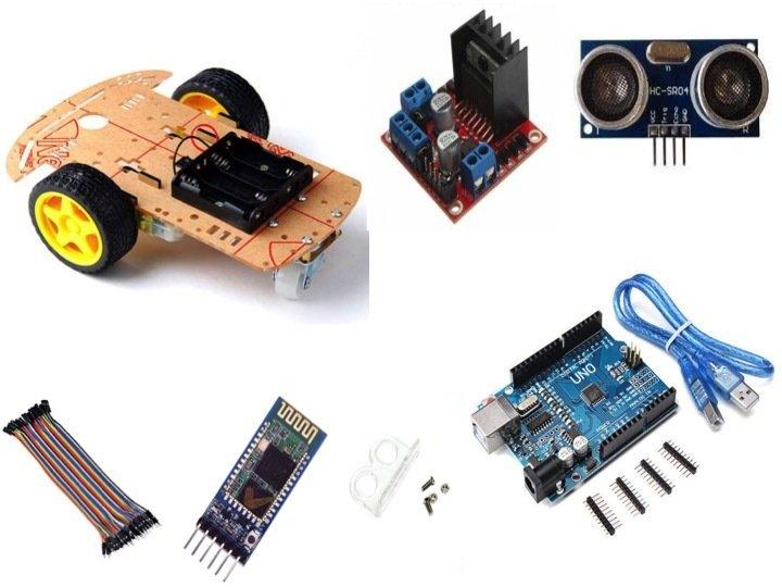 Arduino bluetooth robot araba kiti malzemeleri