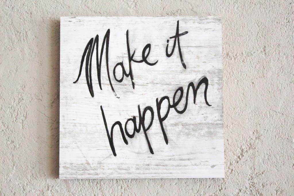 Make It Happen >> Make It Happen Mottolu Agac Tablo