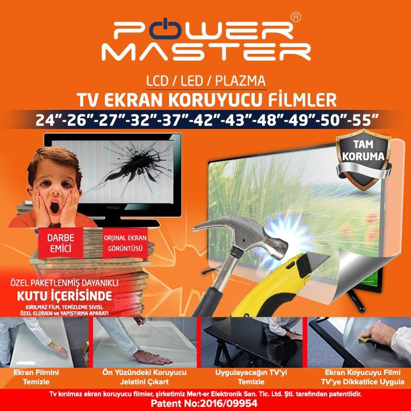 powermaster tv ekran koruyucu film 43 39 39 inc 109 cm fiyat. Black Bedroom Furniture Sets. Home Design Ideas