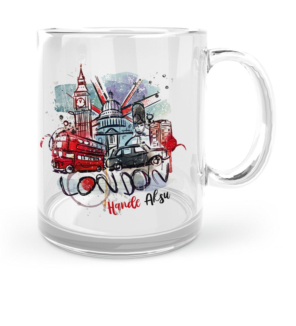Kişiye Özel London Tasarımlı Cam Kupa Bardak - 1