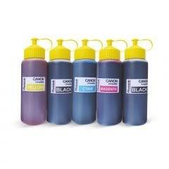 5 Kartuşlu Canon Yazıcılar için uyumlu 500 ml 5 Renk Mürekkep Seti (PHOTO INK Akıllı Mürekkep)