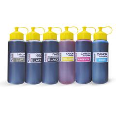 6 Kartuşlu Canon Yazıcılar için uyumlu 500 ml 6 Renk Mürekkep Seti (PHOTO INK Akıllı Mürekkep)