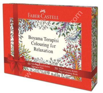 Faber Castell Boyama Terapisi 60 Adet Keceli Kalem 50 Sayfa Boyama