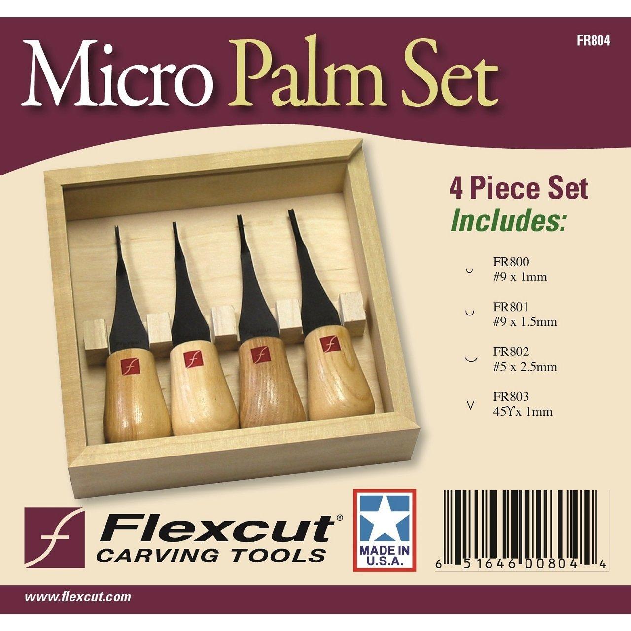 Flexcut Avuç İçi Mikro Oyma Seti - 4 Parça