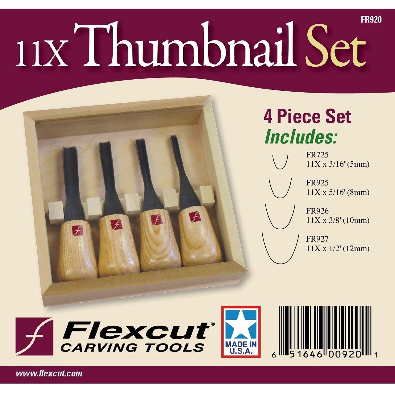 Flexcut Avuç İçi Thumbnail Ground Oyma Seti - 4 Parça