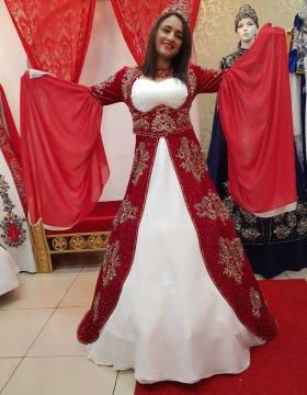 Kırmızı Bindallı (Kaftan) Kına Elbisesi Modelleri 2019-2019 33